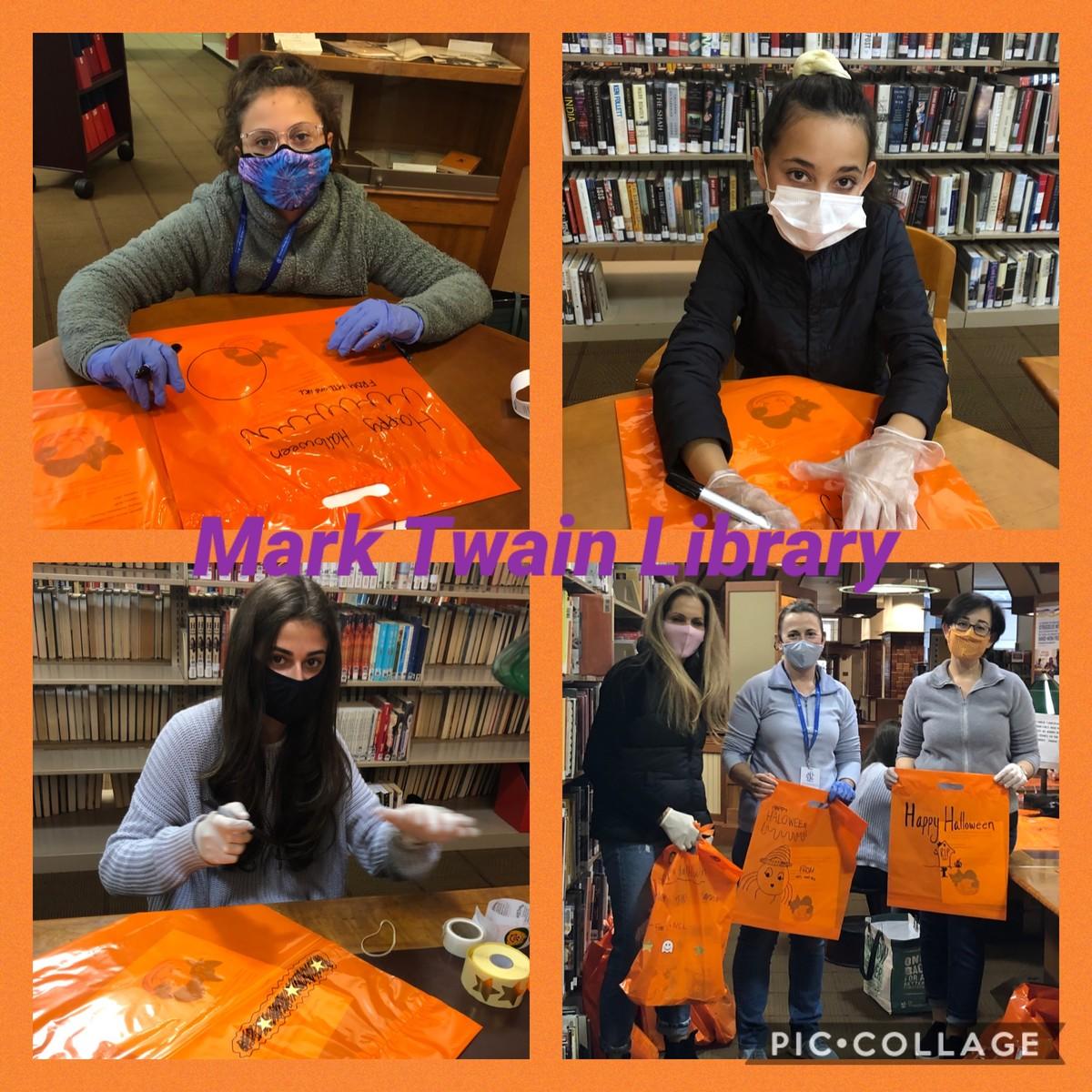 Mark Twain Library Goodie Bag Making